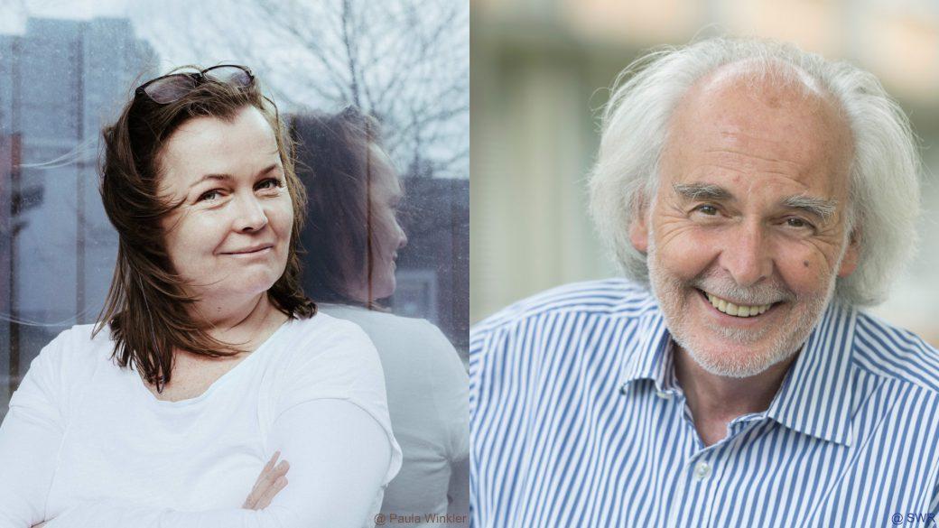 Autorin Katja Oskamp und Moderator Gerwig Epkes